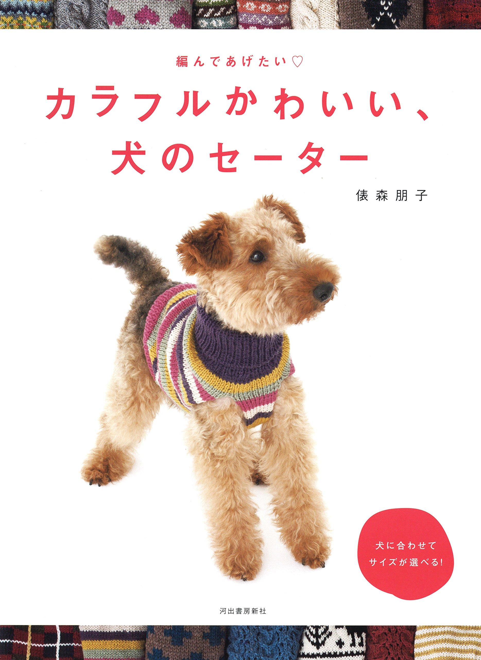 Colorful cute dog sweater