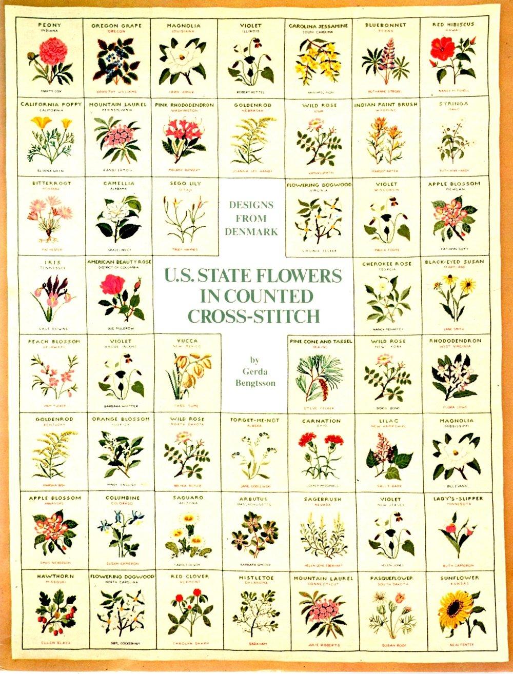 U.S.State Flowers in Cross Stitch