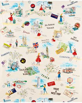 Ткань для творчества - Дувушка путешествует по миру.