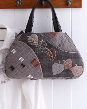 Набор для шитья - Классическая сумка с листьями