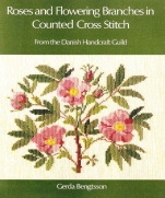 Roses and Flowering Branches in Counted Cross Stitch