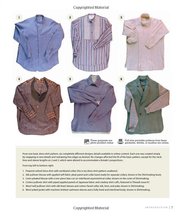 More than 100 Pattern Downloads for Collars, Cuffs and Plackets