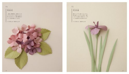 3D cut paper flowers: 43 pieces of four seasons blooming. Emiko Yamamoto