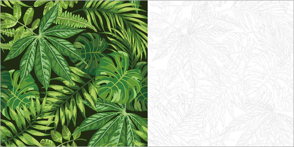 ALOHA! Hawaii Coloring picture: precision-painted picture