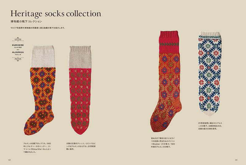 The pattern of tradition hand-knitted socks of Latvia