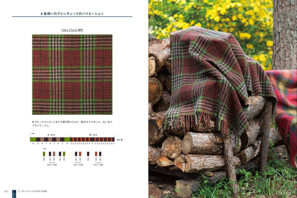 Scotland check for handwoven: tartan and tweed