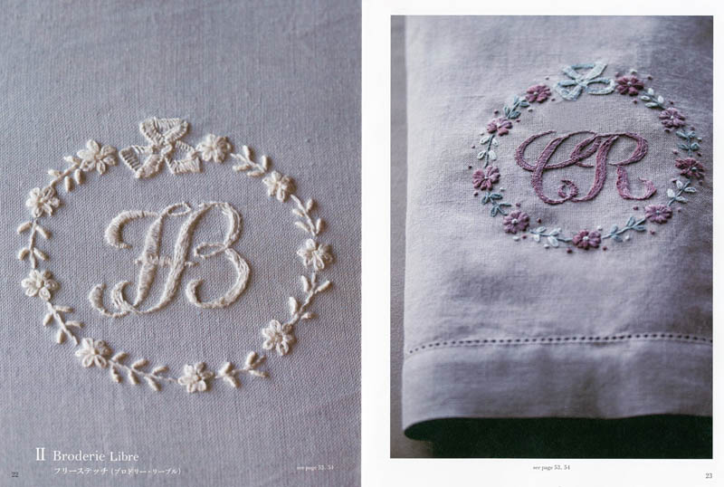 Embroidery initials and monograms