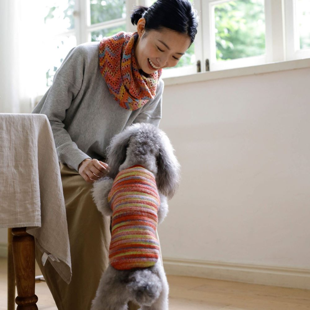 Hand-knitted dog clothes: Adjustable to fit your dog