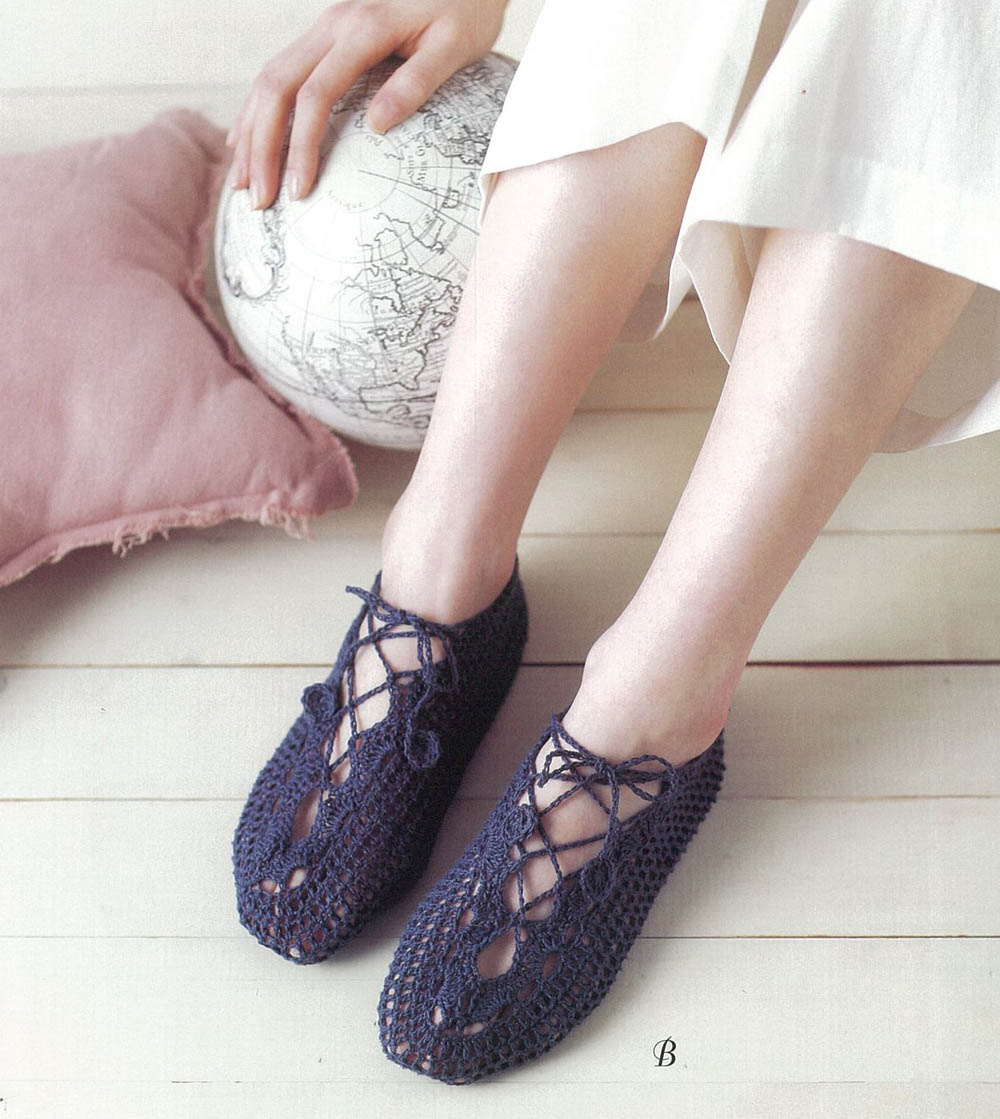 Lacey socks easy crochet