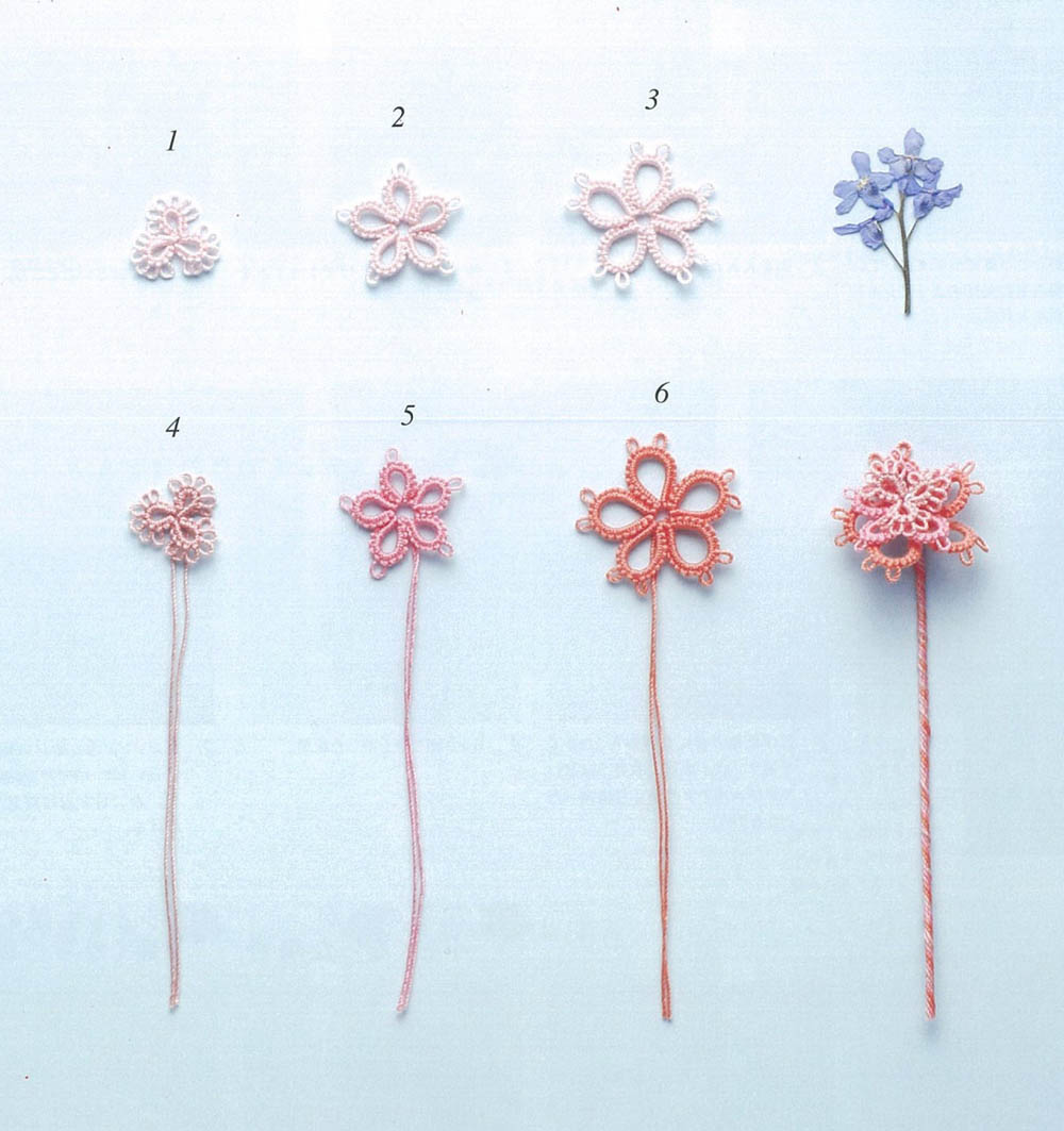 Small flower accessories of Tatting