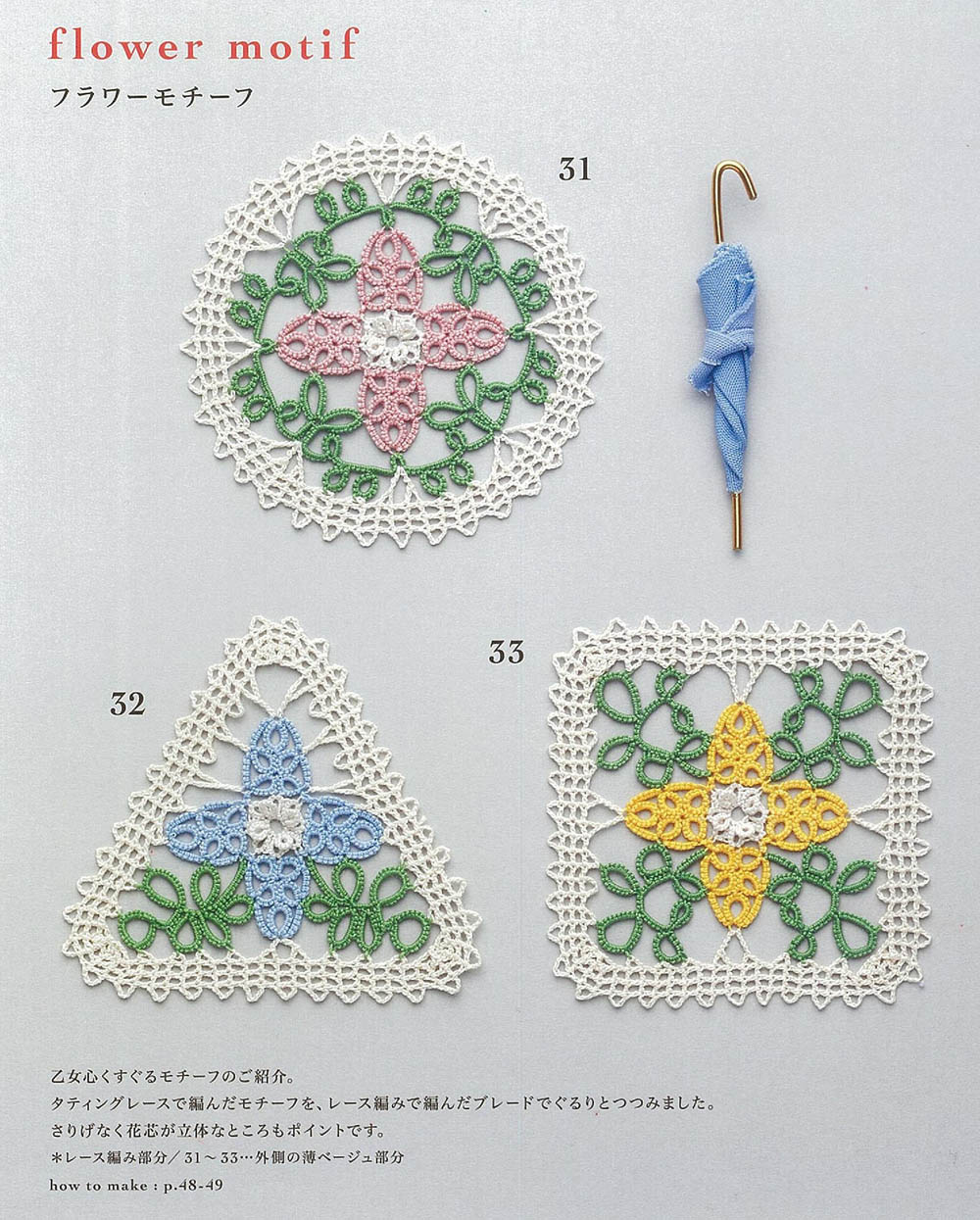 Tatting accessories made of lace + Tatting