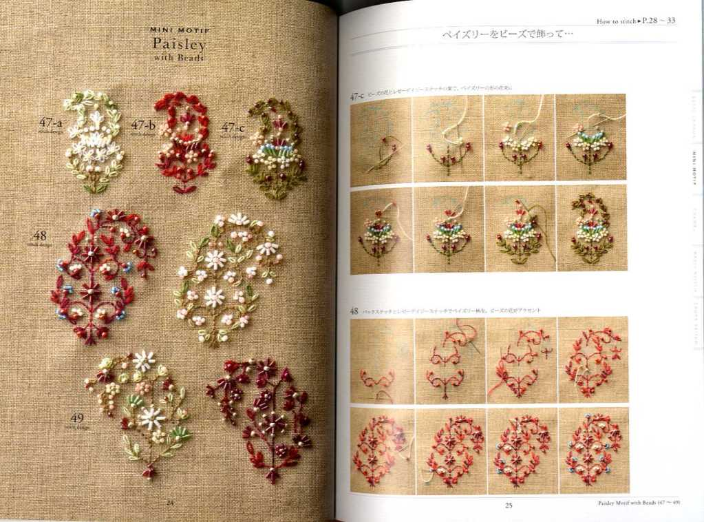 Bead Embroidery Stitch Samplers MOTIF & PATTERN 123