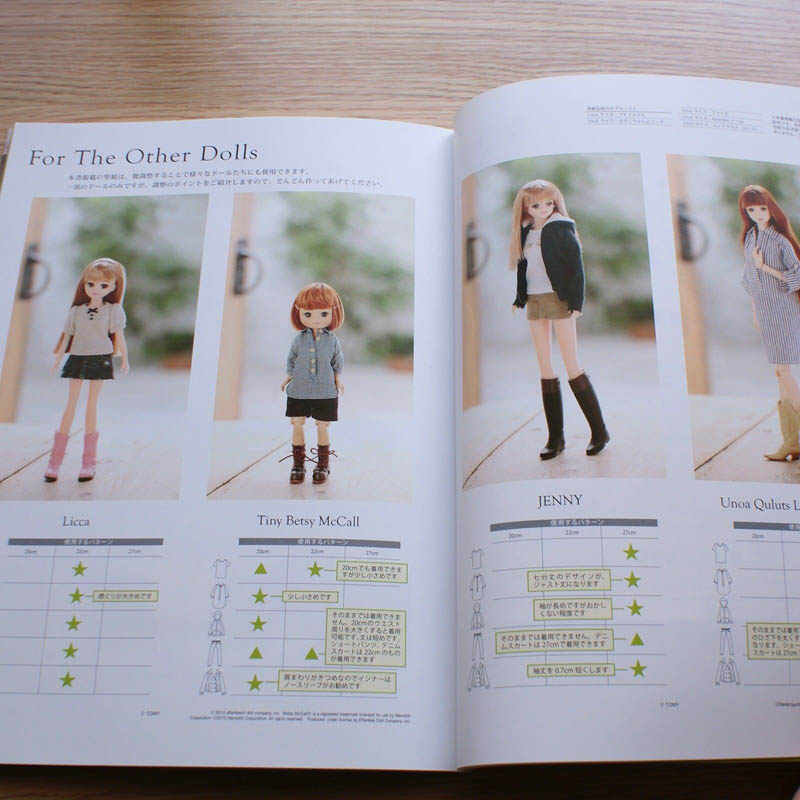 Easy doll-coordination-recipe doll clothes making of basic and applied