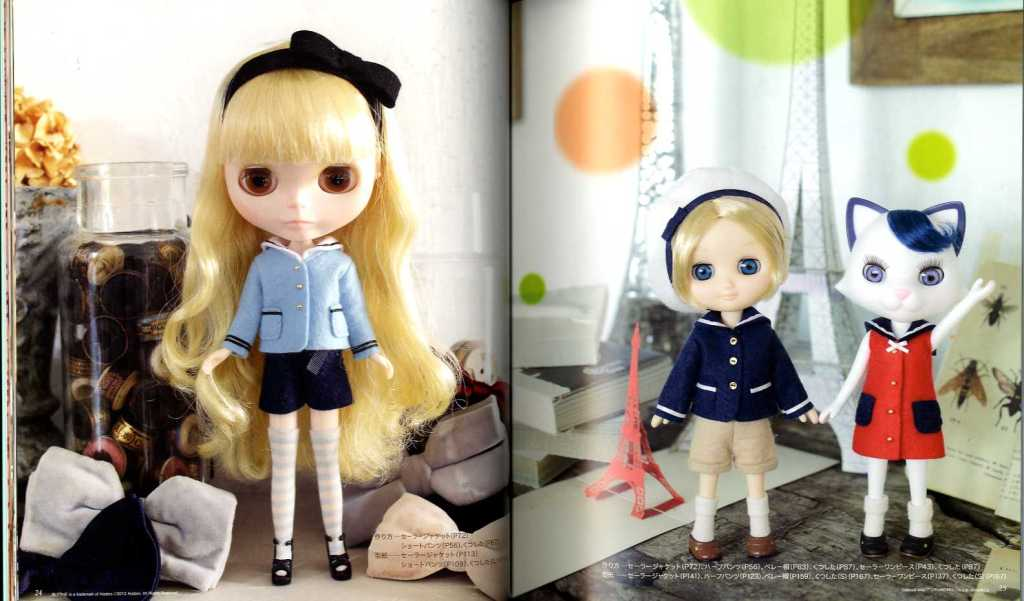 Hand-sewn Doll Coordinate Recipe Clothes felt