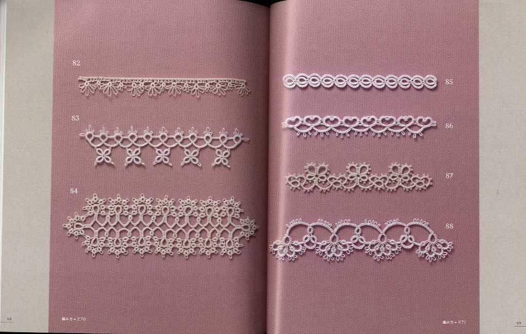 LACEWORK tatting lace 100 Motif