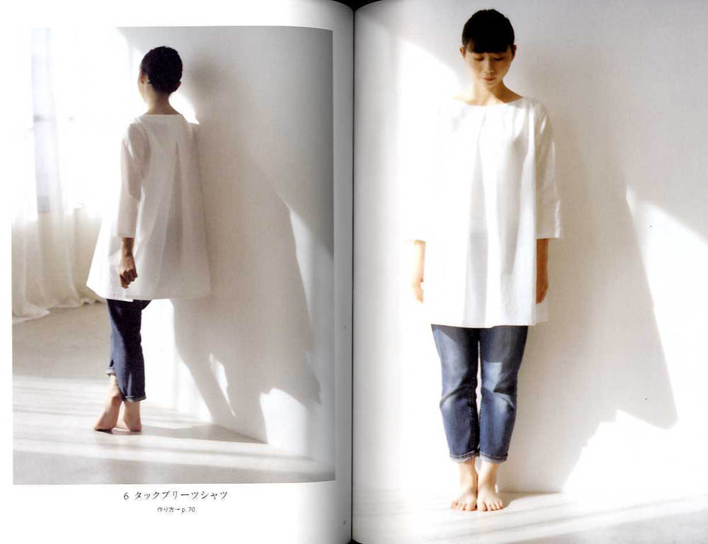 White shirt sew by Masako Ito