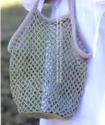 Сумка-авоська крючком ...от Lets knit (Япония)