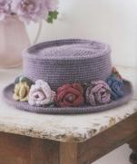 Вязание шляпы крючком из журнала Pretty Color Crochet Goods 4 2012