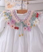 Детский воротничок крючком из журнала Pretty Color Crochet Goods 4 2012