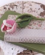 Вязание тюльпана крючком из журнала Pretty Color Crochet Goods 4 2012