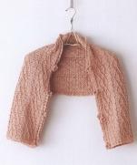 Шарфик-трансформер имитирующий аранский узор крючком из журнала  Crochet Best Sele