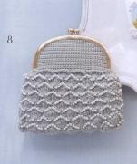 Вязание кошелька крючком с бисером