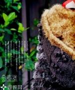 Схема мехового жилета с капюшоном из журнала Keito Dama No.155 2012