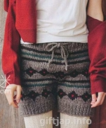 Схема вязания теплых шорт жаккардовым узором