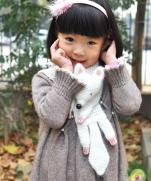 Воротничок-лиса детский (без схемы)