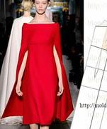 Выкройка платья с подиума