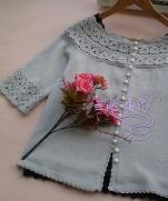 Silver combine cardigan crocheted - Обвязка одежды крючком. Кардиган.