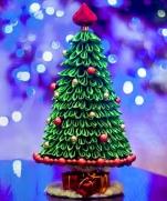 Ёлка Канзаши Видео- Мастер Класс / DIY: Kanzashi Christmas tree