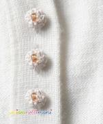 Самодельные пуговицы из пряжи для вязаной одежды