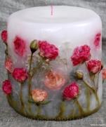 Цветочные свечи ручной работы
