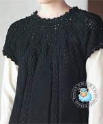 Черный свободный пуловер