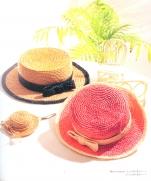Шляпа к стиле кантри крючком для мамы и дочки