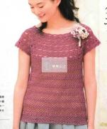 Вязаный топ крючком из журнала Now knitting want to knit S3946 2015