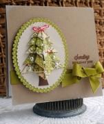 Рождественская открытка оригами | Origami Christmas Trees