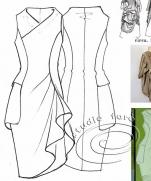Платье - карманные складки | Pattern Puzzle - The Pocket Drape