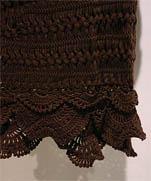 Вязаная на вилке - юбочка из японии