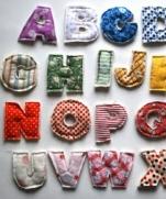 Текстильные буквы на магнитах МК