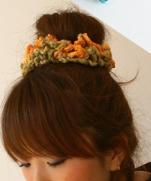 Резинка для волос крючком. Фотоурок + подборка резиночек из японских журналов