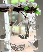 Мобиль Цветущая вишня с бабочками | Sweet DIY Butterfly Mobile