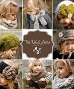 Уютные вязаные теплушки для малышек от Heidi May, США.