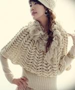 Пуловер узором -- Aзиатский колосок -- мастер-класс