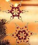 Бисерные снежинки | Beaded snowflakes