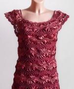Платье связаное на вилке Сирень и Кармен