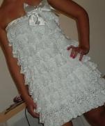 Платье связаное крючком Куколка