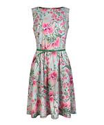 Платье с облегающим лифом и присборенной юбкой (выкройка – схема)