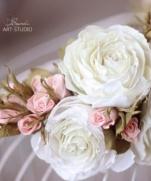 Мастер-класс веночек из бутонов роз (фоамиран)